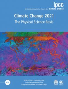 Portada del Sexto Informe de Evaluación del IPCC