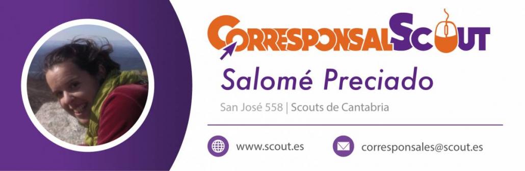 Salomé Preciado Corresponsal Scouts de España